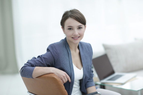 closeup portrait of a female psychologist in her private office.photo with copy space